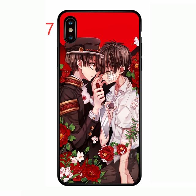 Jibaku Shounen Hanako-kun Soft Phone Case Cover for Iphone X XR XS MAX 6 7 8 Plus 11 Pro MAX