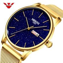 NIBOSI 2019 Relogio Masculino męskie zegarki Top marka luksusowy zegarek na rękę mężczyźni zegarek zegarek męski prosty zegar Relojes Para Hombre