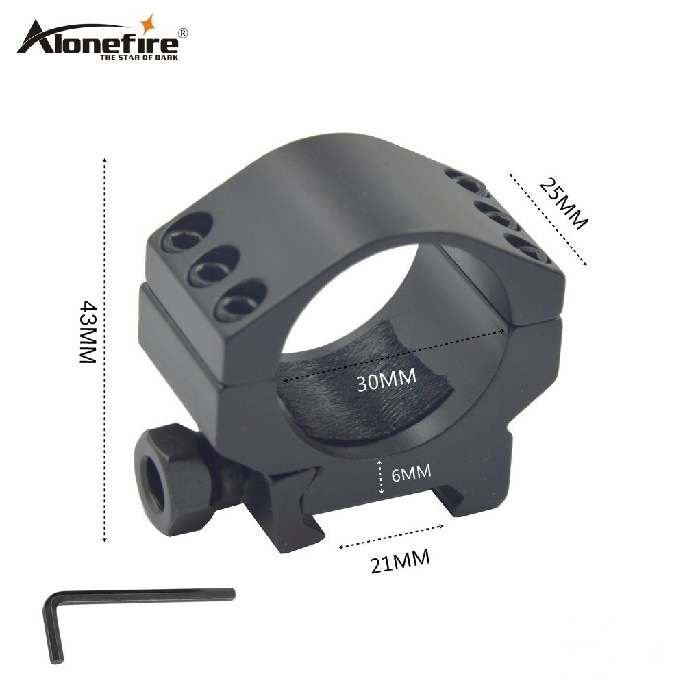Alonefire M33 30mm Ring 21mm Rail Weaver Dovetail Base Airsoft Rifle Shot Gun Tactical Lights Laser Sight Scope Hunting Mounts