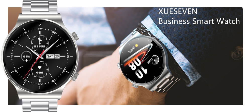 H96897bb10af648aeb6fdbb98ea88e48fS XUESEVEN 2021 HD Full circle touch screen Mens Smart Watches IP68 Waterproof Sports Fitness Watch Fashion Smart Watch for men