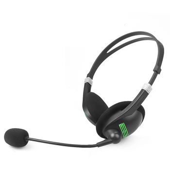 3.5 mm Headphone Wired Earphone with Microphone Noise Canceling Computer Headset Lightweight for Laptop PC School Children 4