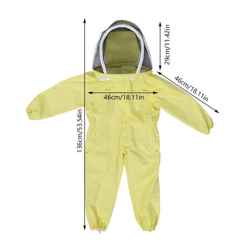 Child Beekeeping Suit Breathable Clothing Anti-Bee Jumpsuit Farm Visitor Protection