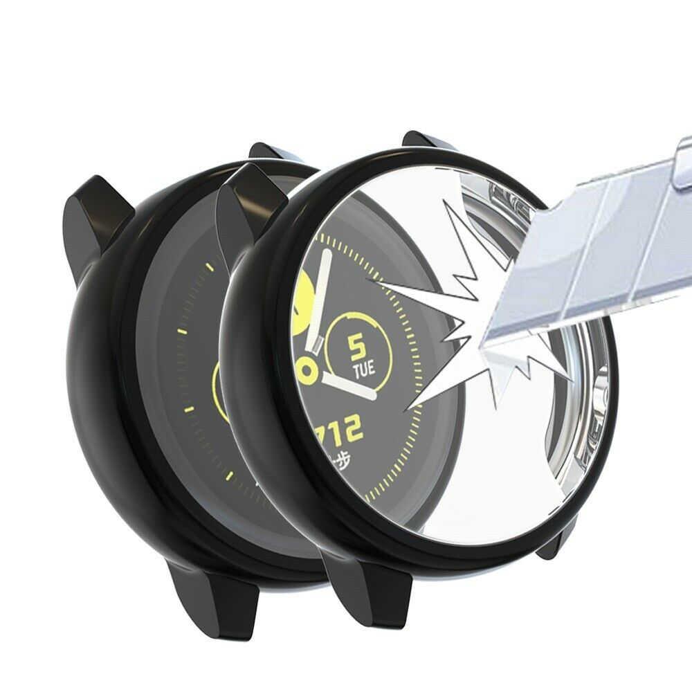 1 قطعة واقي للشاشة حقيبة لهاتف سامسونج جالاكسي ساعة نشطة من جميع أنحاء رقيقة جدا لينة سيليكون غطاء للحماية من أجل Galaxy Active