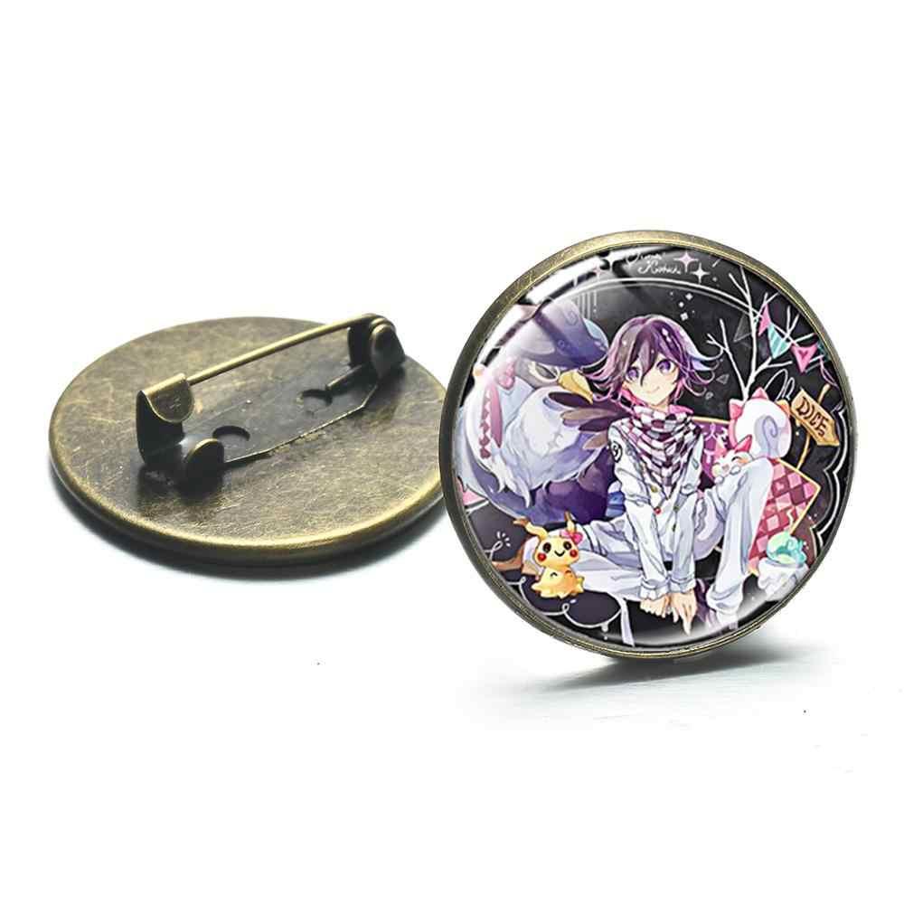 SIAN Dangan Ronpa Danganronpa V3 Broche Oma Kokichi Akamatsu Game Figuur Glas Ronde Metalen Broches Pin Gamer Jassen Decoratie