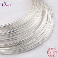 Un metro 0,4-0,8mm 925 alambre de plata de ley metel hilo de plata Cadena de plata línea de plata para la fabricación de pendientes de pulsera de collar