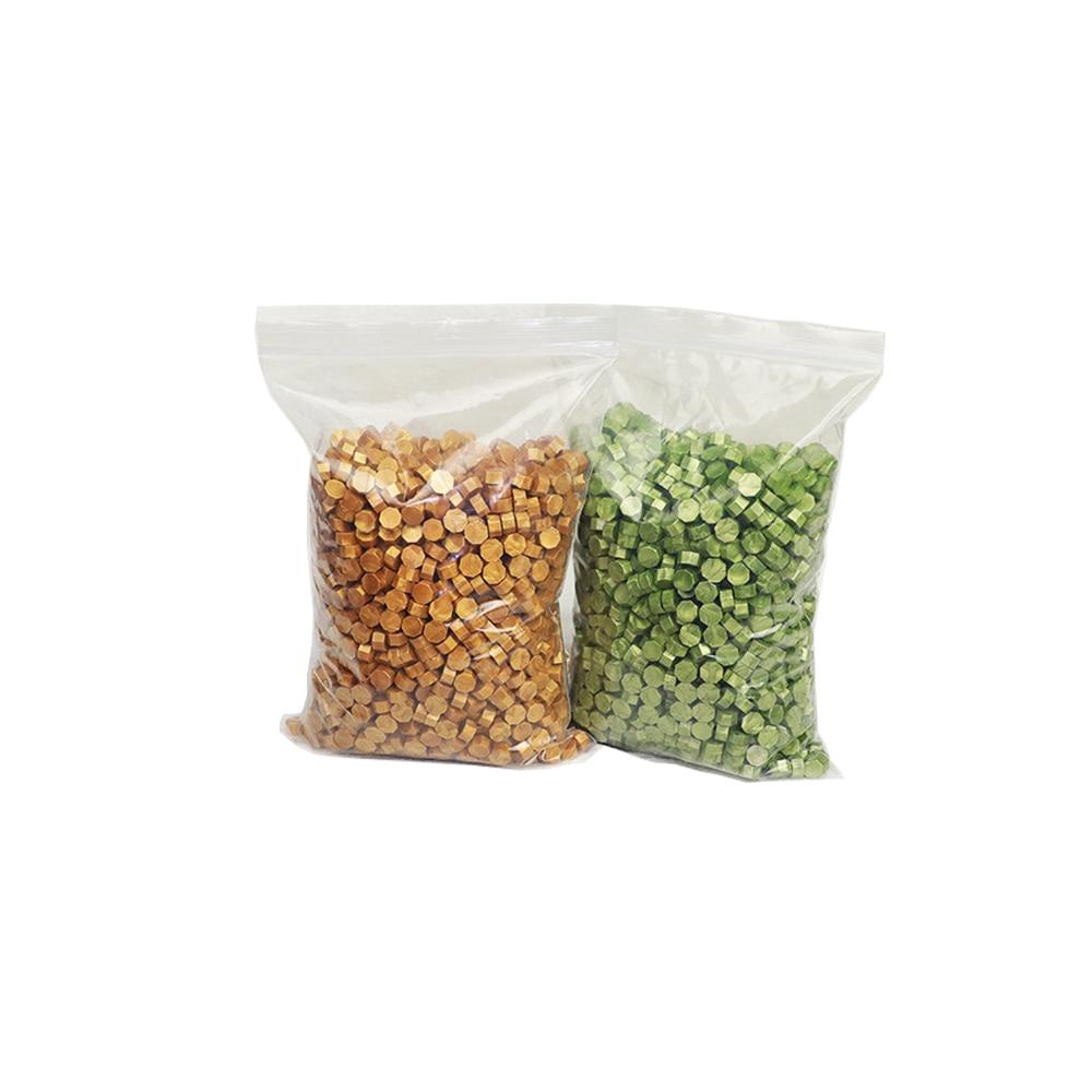 Octagon wax beads 2-1