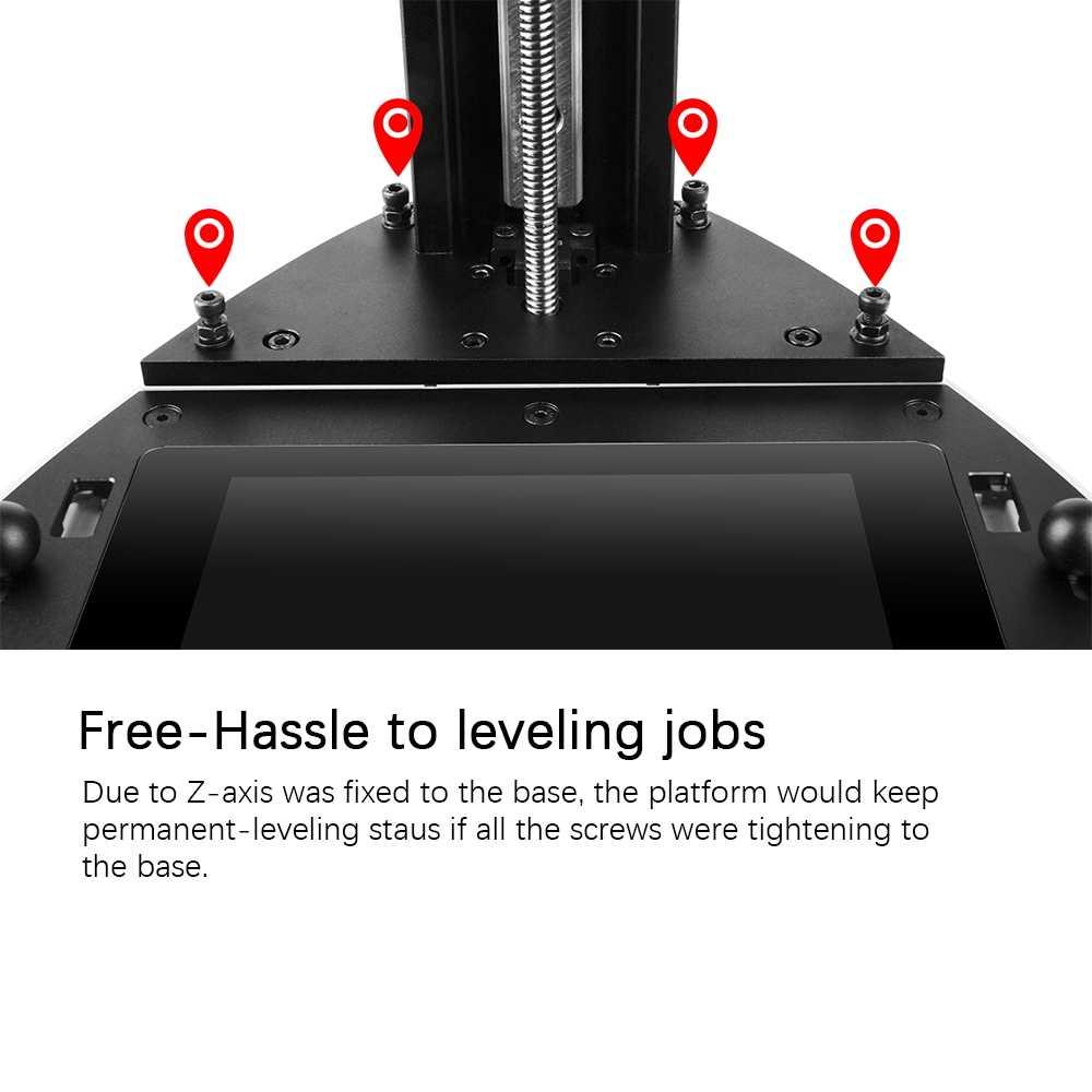 NOVA3D ELFIN Impresora de resina barata 3d diseño de nivelación permanente soporte 405nm resina UV SLA 3D Impresora con luz de curado Impresora