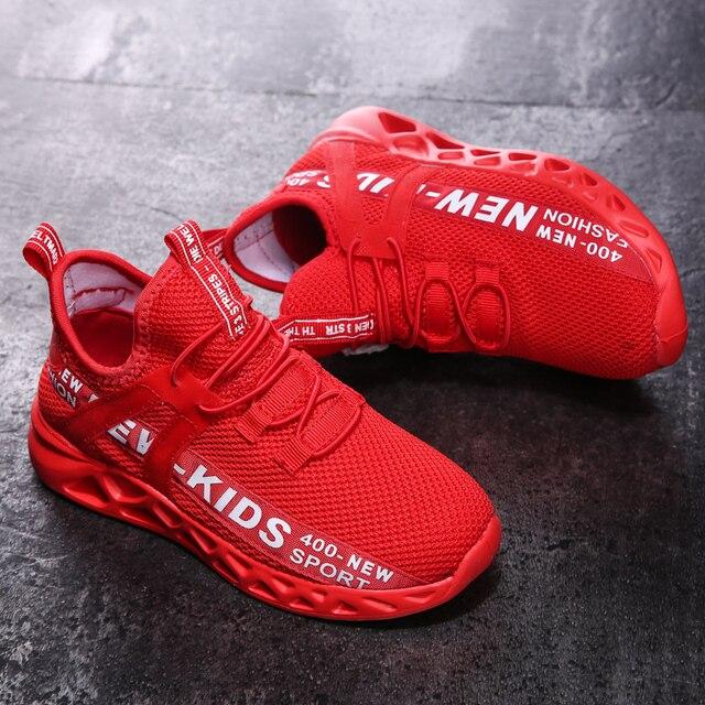 Zapatillas de malla para niños, zapatos ligeros, informales, transpirables, antideslizantes, size26-39 5