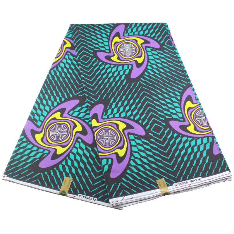 Wholesale Price!2020 New Designer African Fabric Guaranteed Wax Africain 6Yards/lot Nederlands Pagne Wax