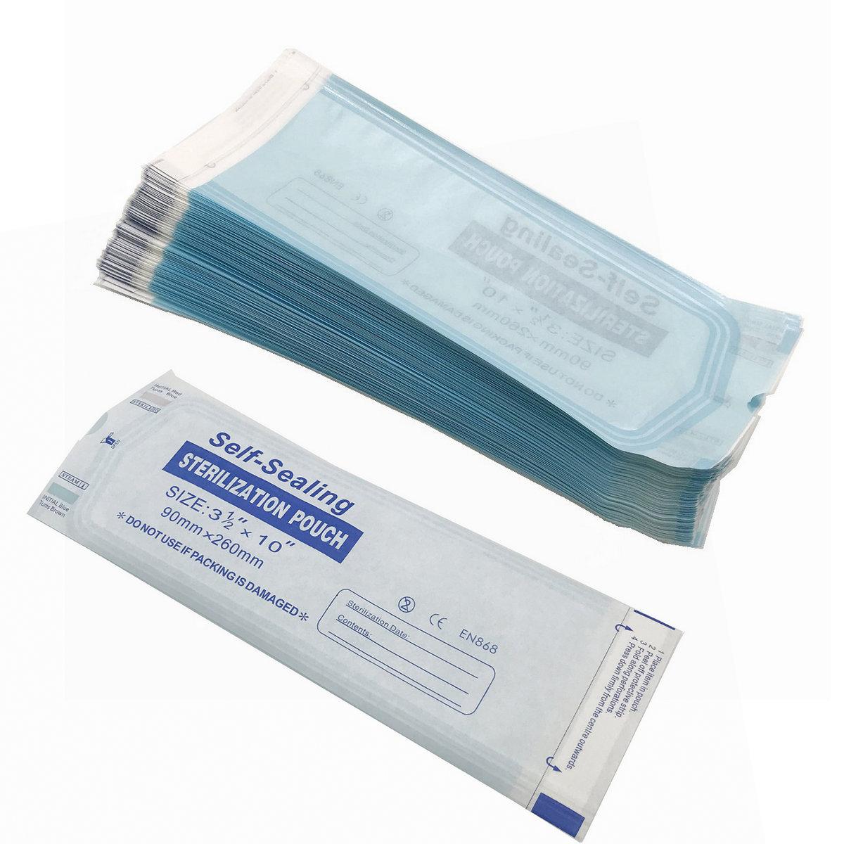 200pcs High Quality Self-Sealing Sterilization Bag  Self-Sealing Sterilization Pouch 90*260mm