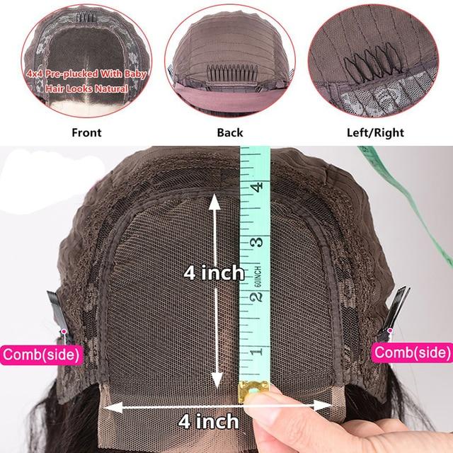 Купить 30 дюймов глубокая волна кружева закрытие парик 4x4 синтетические