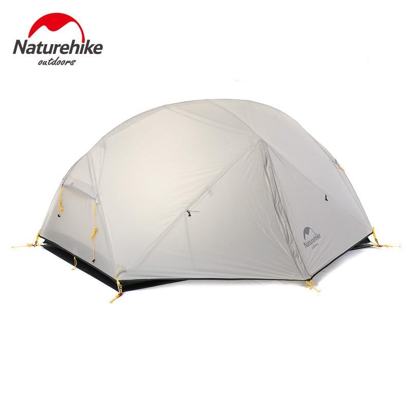 Naturehike mongar 2 tenda, 2 pessoa barraca de acampamento ao ar livre ultraleve 2 homem tendas de acampamento vestibular precisa ser comprado separadamente