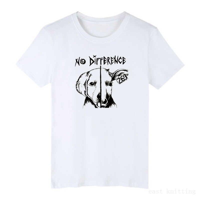 Wanita Plus Ukuran Tee Kemeja Cetak Wanita T-shirt Fashion Lucu Wanita Vegan T Shirt Tidak Ada Perbedaan Vegan Teman-teman Tidak Makanan T Shirt