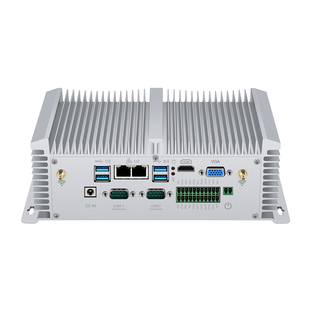 Mini PC Intel Core I5-8350U I7-7500U I5-7200U Industrial Micro PC 2*LAN 8*USB RS232/422/485 HDMI VGA GPIO WiFi 4G Windows Linux