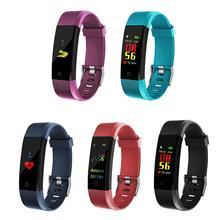 ID115 PLUS цветной экран умный спортивный браслет шагомер часы фитнес бег трекер ходьбы сердечного ритма шагомер смарт-браслет