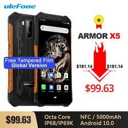 Ulefone Armor X5 IP68/IP69K Robuuste Shockproof Android 10.0 Smartphone 5000 Mah Octa Core 5.5 ''Dual Sim Otg nfc 3 Gb 32 Gb 4G Lte
