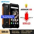 Ulefone Armor X5 IP68/IP69K Rugged Shockproof Android 10.0 Smartphone 5000mAh Octa Core 5.5'' Dual SIM OTG NFC 3GB 32GB 4G LTE
