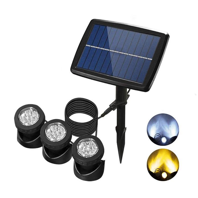 DCOO Led Underwater Lights Solar Pond Landscape Light Projector Projector Light Ip68 Waterproof Underwater Pond Garden Lawn