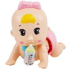 Baby Learn Crawling Doll Baby with light and music  Early Education Puzzle Toys Learning Crawling Guide Doll Best Gift