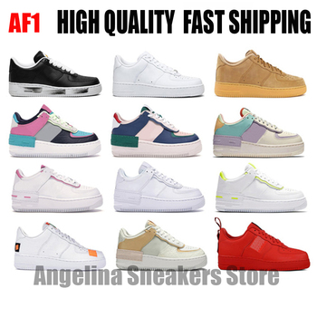 High quality fast shipping Men Air Forced 1 Utility Candy Macaron Women AF1 Shoes 1 Shadow Sport Dunnk one Skateboard Sneakers