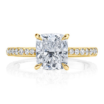 Luxury Solid 14K Gold Moissanite Engagement Ring for Women 4