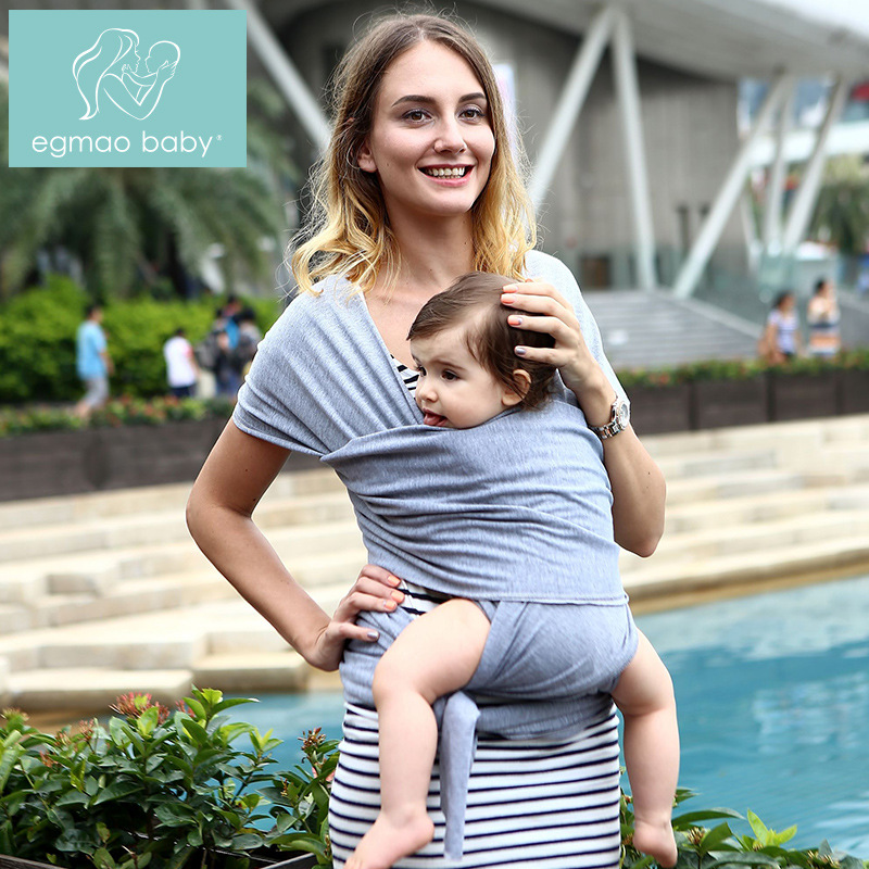 Egmao Baby Bamboo Fiber Baby Sling Multi-functional Infant Baby Carrier Handsfree Sling Newborn Baby Double Shoulder Straps