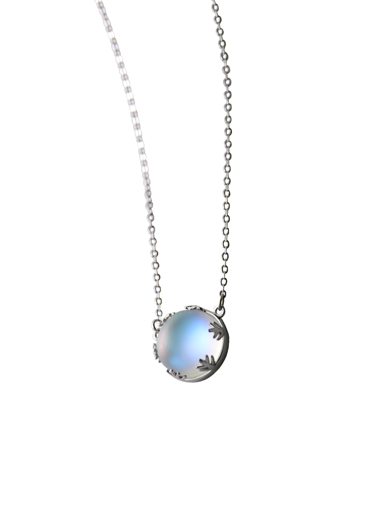 Thaya Pendant Necklace Jewelry Light Halo Gemstone Silver Aurora Women Crystal S925 55cm