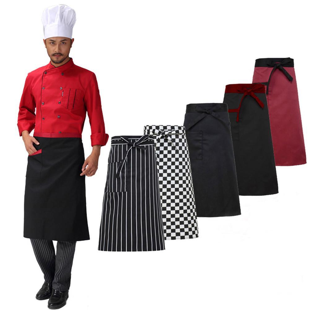 Women Cooking Kitchen Apron Ladies Dress Pocket Clothes Chef Adjustable Bib E86