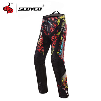 Clearance SCOYCO Professional Motocross Pants Off-Road Racing Hip Pads Pants Breathable Motorcycle Pants Pantalon CE Protector #