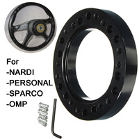 New Black Steel Ring Wheel Hub Adapter Spacer Kit For NARDI for PERSONAL