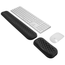 Keyboard and Mouse Wrist Rest Pad Padded Memory Foam Hand Rest Support for Office, Computer, Laptop