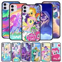 My Little Pony Caso per il iPhone di Apple 11 Pro Max XS X XR 7 8 6 6S Plus 5 5S SE 2020 Nero Caso Molle Della Copertura Del Telefono