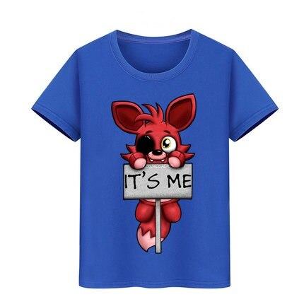 Boys Girls T-Shirt Pure Cotton Baby Clothes Kids Brand Tshirt Teenage Boy It's Me Kawaii FNAF Plush Foxy Tee Children T Shirt