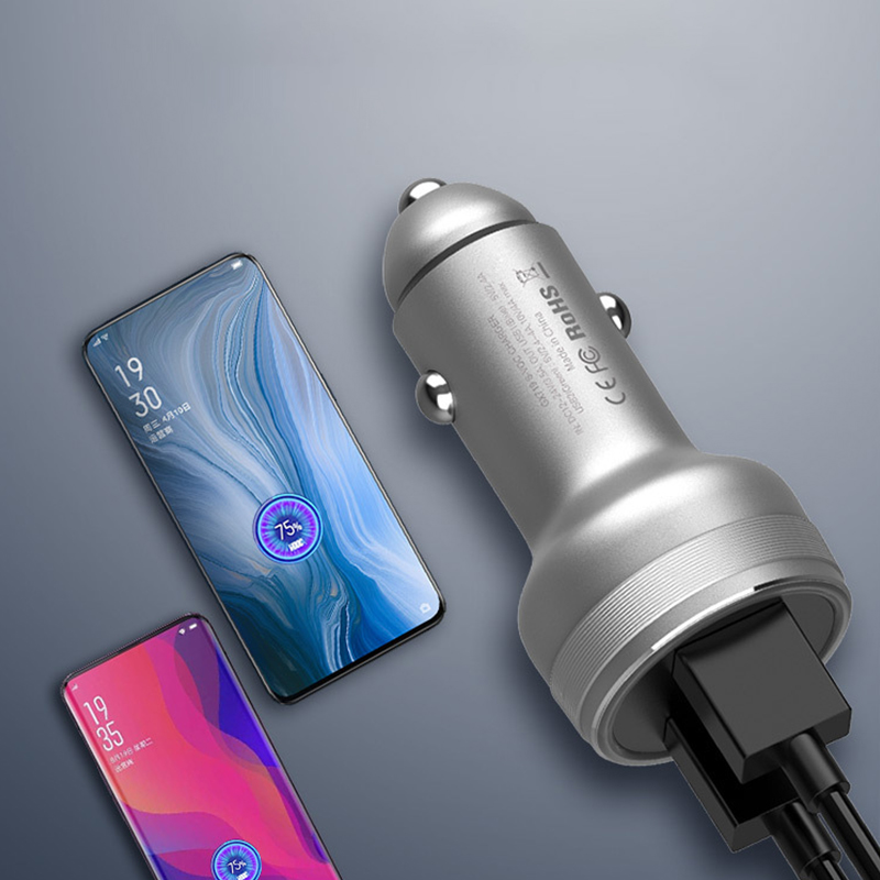 SIKAI 40W Car Charger Dual QC 3.0 Charge for Oneplus 7 pro Dash Charger for Oppo 17 Reno Super Vooc charger Flash Charging