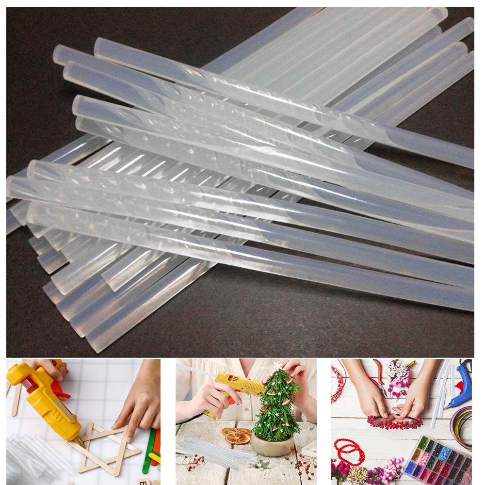 10/20Pcs/Lot 7mm X100/ 200mm Hot Melt Glue Sticks For Hot Glue Gun Craft Album Repair Tools For Alloy Accessories