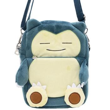 Cute Cartoon Pokemon Pocket Monster Snorlax Corduroy Messenger Bag Embroidery Small Phone Purse Bag Toy Handbag Gift