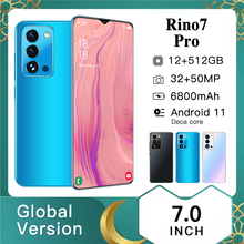 Global Version Rino7pro Smartphone 10Core 12+512GB 6800mAh 7.0Inch Dual SIM Dual Standby Support Face ID 5G Android CellPhone