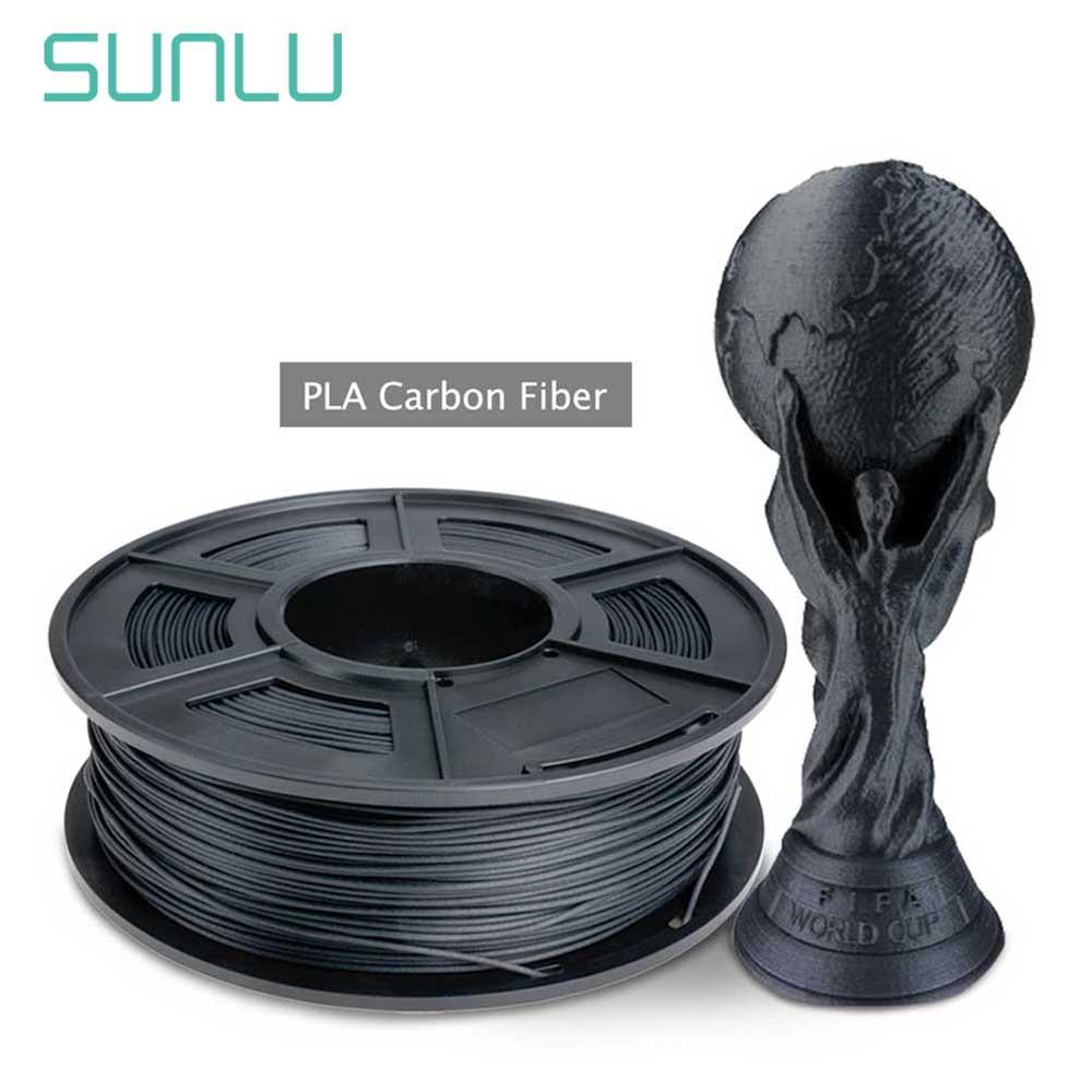 SUNLU Best Selling PLA Carbon Fiber Filament For 3D Printer And Pen 1.75mm 1KG With Spool No Pollution 3D Printer Filament