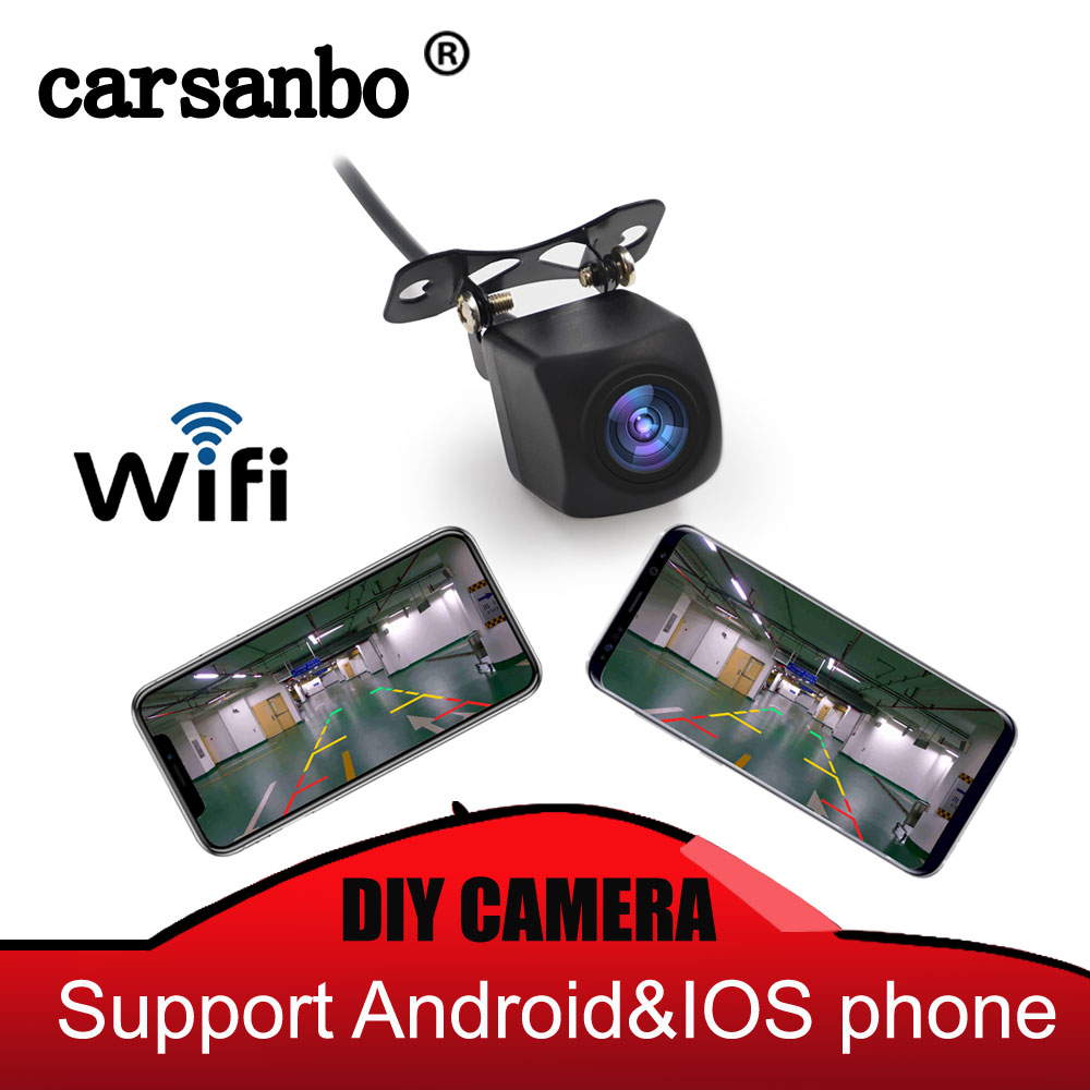 720P HD Wifi Back Up Camera Car Front&rear Mount Available Support Android And Ios System Mobile Easy Mounting F-car APP