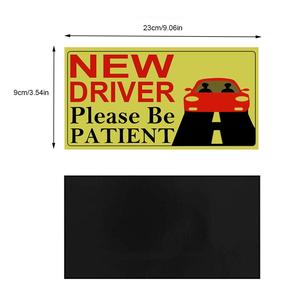 Image 5 - 2019 New Driver Sticker Reflective Magnetic Car Stickers Vehicle Sign Magnetic Bumper Stickers Car Sticker for New Driver