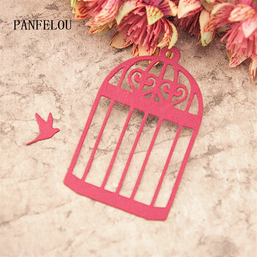 PANFELOU 1lot=2PCS Cage Combination Metal Craft Carbon Steel Cutter Paper Die Cutting Dies Scrapbooking/DIY Embossing Cards