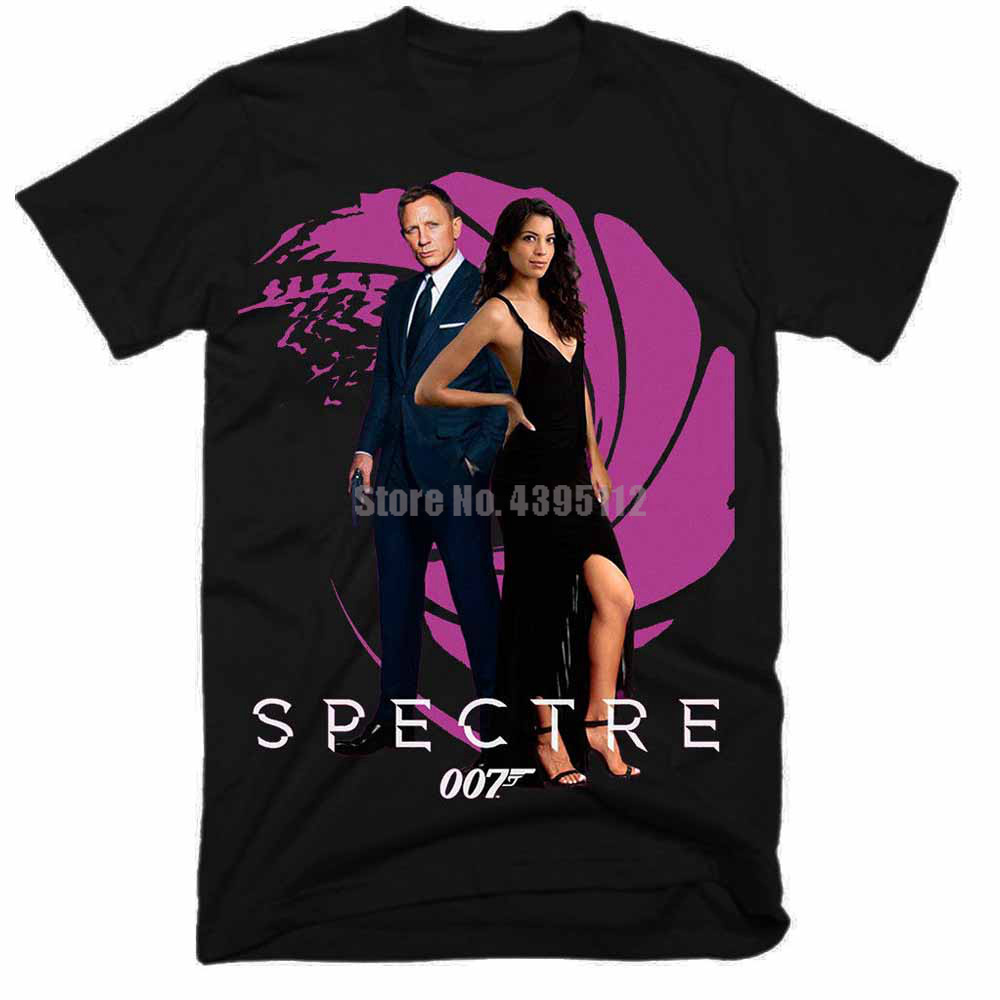 James Bond Spectre 007 Movie Homme Funny T Shirts Hip Hop Clothing Tshirts Fashion 2019 Tee Shirt Brand T-Shirts For Men image
