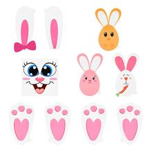 Bunny-Stickers-Set Easter Hunt-Game For Kids with Egg Garden