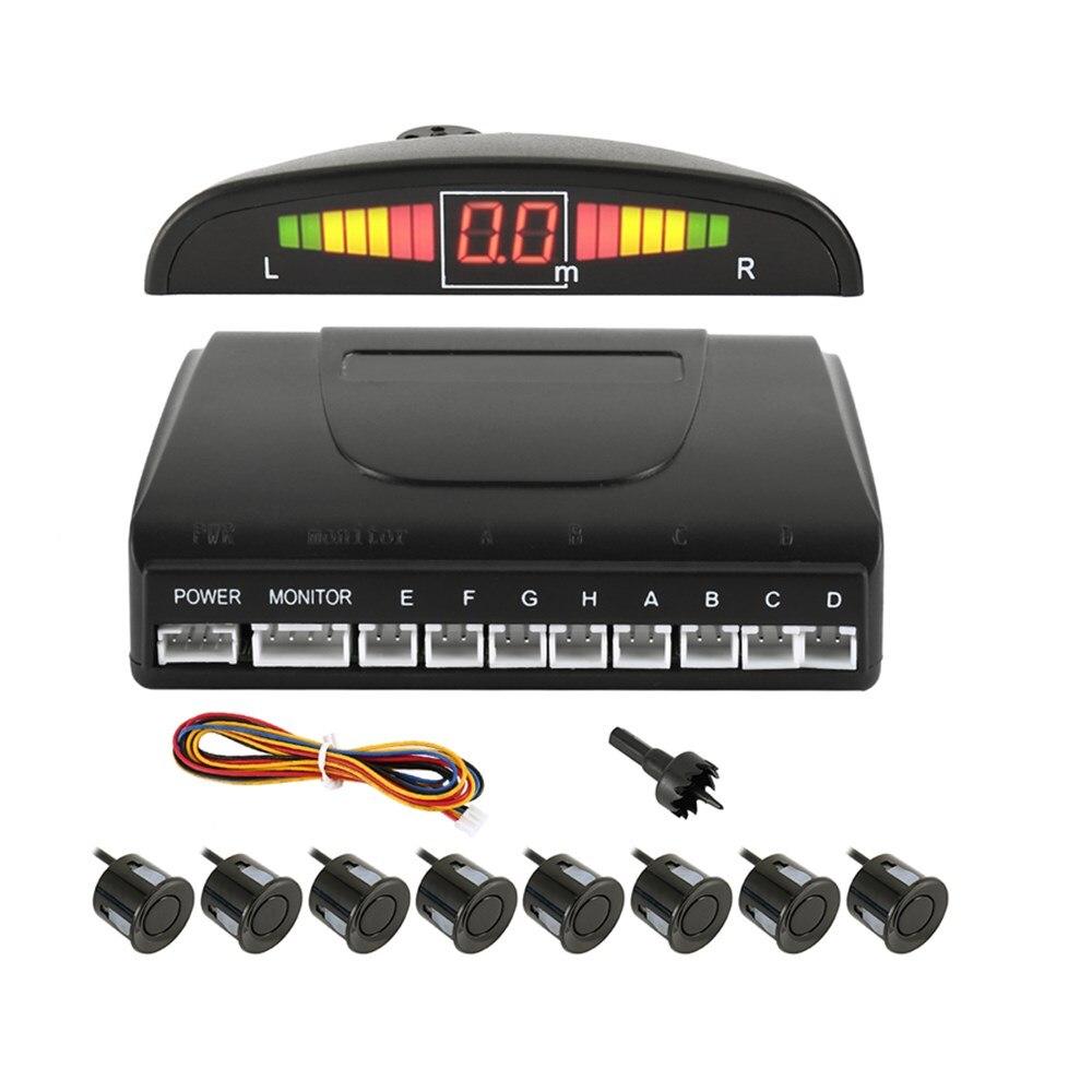 Czujnik parkowania z 4/8 czujnikami rewers Backup samochód LED Parking samochodowy Radar Monitor detektor System wyświetlacz Auto Parktronic