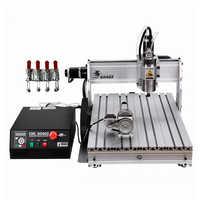 4 aixs PCB cnc máquina de grabado 6040Z 1500w refrigerado por agua husillo de madera enrutador Puerto USB