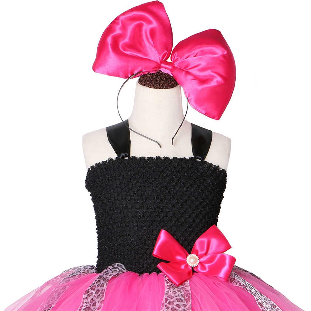 Principessa Delle Ragazze Tutu Dei Capretti Del Vestito di Natale di Halloween Lol Bambole Cosplay Costume Dell'arco Della Ragazza di Compleanno Vestito da Partito Up per La Bambola Sorpreso