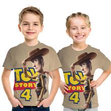 2019 Movie Toy Story 4 Shirt Forky 3D Printed T-shirt Tshirt Boys Girls Top Tees Short Sleeve T shirt 4-14T Kids Clothes