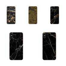 Cross Black Gold Marble Crack Print For Xiaomi Mi3 Mi4 Mi4C Mi4i Mi5 Mi 5S 5X 6 6X 8 SE Pro Lite A1 Max Mix 2 Note 3 4(China)