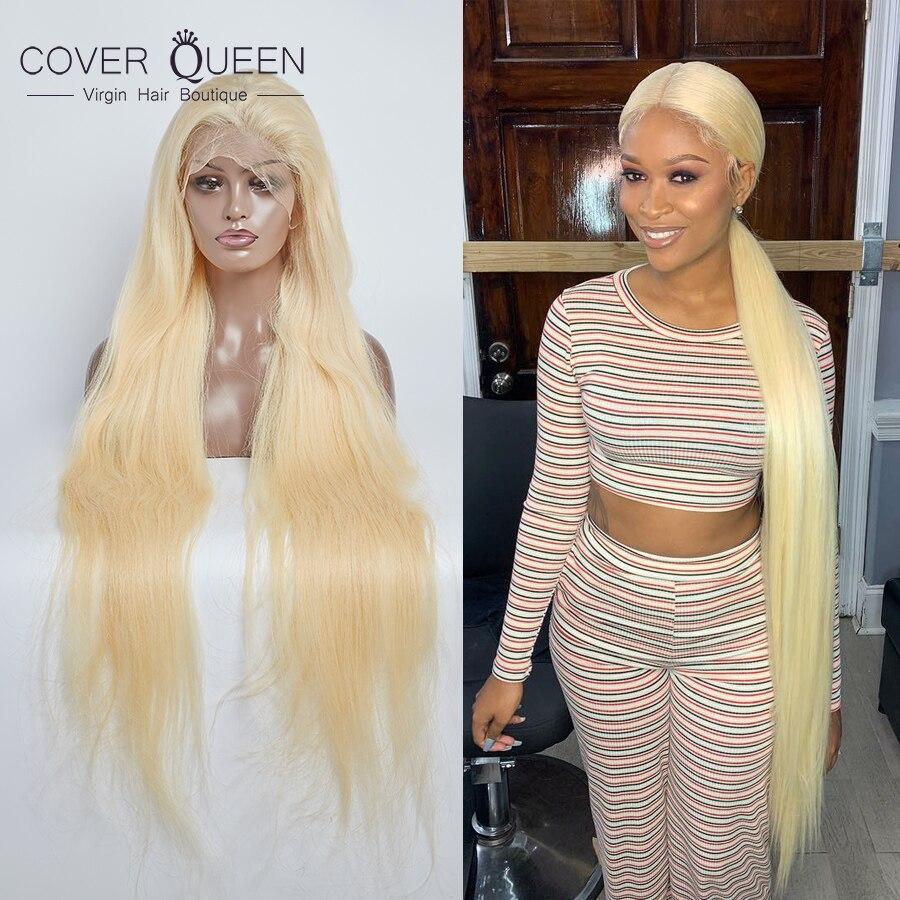 30 32 34 36 38 40 Inch Long Hair Full Lace Human Hair Wigs 613 Honey Blonde Hair Pre Plucke Glueless For Black Woman Ship Free