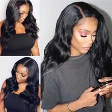 180 200 бразильские волнистые волосы Синтетические волосы на кружеве парики из натуральных волос на кружевной HD прозрачный Невидимый обнаружить 13x4 Синтетические волосы на кружеве парик для черных Для женщин